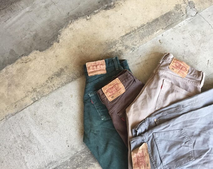 LEVI'S 501 Green Jeans