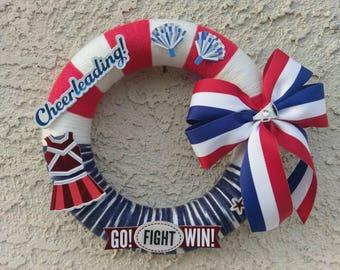 Cheerleading Wreath, Cheer Wreath, Cheerleader wreath