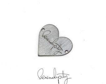 Handwritten bracelet. Heart Bracelet. Personalized bracelet. Engraved jewelry. Memory bracelet. Handwritten charm. Handwritten jewelry.