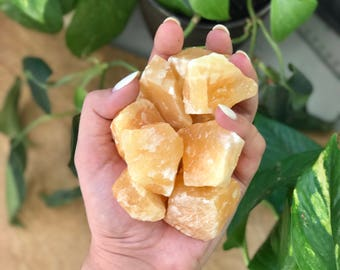 Honey Calcite Chunk, Intrinsic Journeys Crystals, Calcite, Healing Crystals