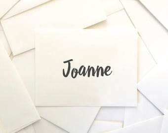 Reserved for Joanne (20) Rachel Suite Save the Dates with Envelopes and Full Addressing Service