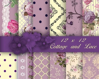 50% off Digital Shabby Chic Paper, Digital Background Paper, Scrapbooking Paper, Printable Paper Pack, Printable Shabby Chic, Coupon Codes