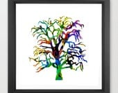 tree art print / nature i...