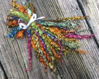 Long Mohair Locks, 1 ounce, Dyed, Spin, Fleece, Locks, Doll Hair, Felt, Gemstones
