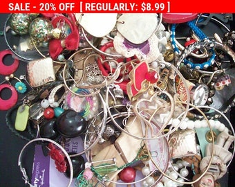SALE Destash junk jewelry lot , repurpose, altered art lot A
