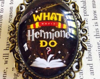 Large Oval Harry Potter Hermione Vintage Style Brooch
