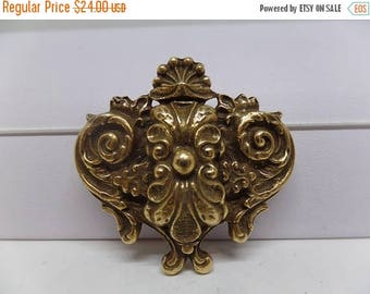 ON SALE COROCRAFT Signed Vintage Repousse Pendant Brooch