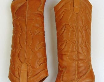 SALE Vintage Boots | 1980s | Chaps Caramel Leather Western Boots | 8.5 M