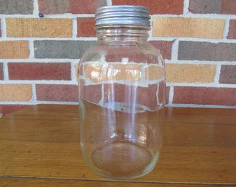 Vintage Half Gallon Jar with Zinc Lid