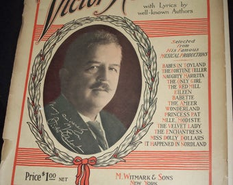 Vintage  Music ,Toy Land. Album of Songs,By Victor Herbert, Babes in Toy Land, Wonderland,Musical Productions Songs,Babette