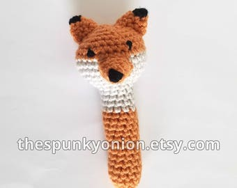 Fox rattle teething toy