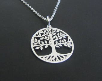 Tree of Life Necklace, Sterling Silver Necklace, Pendant Necklace, Jewelry, Gift for her