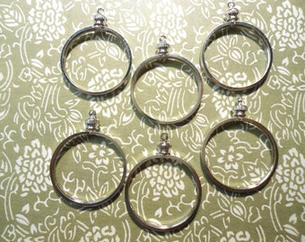 6 Silverplated 28mm SBA Dollar President's Dollar Coin Holder Coin Bezels