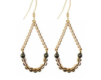 Kumi gold plated earrings