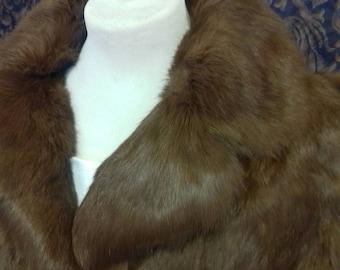 Gorgeous Vintage 60s ginger coney rabbit fur jacket - size 14