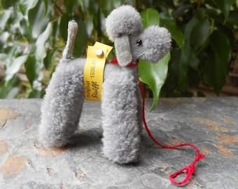 Vintage Original Steiff Miniature Gray Poodle #1506.45