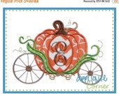 40% OFF 749 Halloween and Thanksgiving Pumpkin Carriage just like Cinderella applique digital design for embroidery machine by Applique Corn