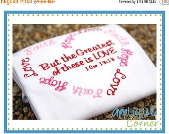 50% Off 907 Hope Faith Love Valentine's Day applique design in digital format for embroidery machine by Applique Corner