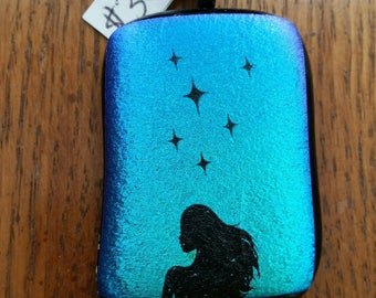 Dichroic Lady Fused Glass Pendants
