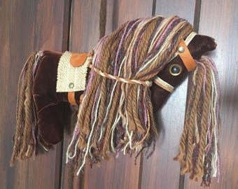 Hanging Ornament Horse Plushie and Tassel Wall Art Mobile