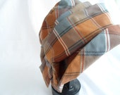 Tan/grey swathed  slouch hat