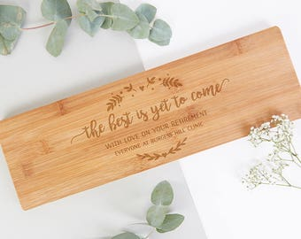 Retirement Gift Personalised Wooden Chopping Board