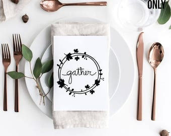 Gather SVG Cut File, Gather Vector, Handwritten, Calligraphy Cut File, Clipart, SVG Cut File, Silhouette SVG, Graphic overlay