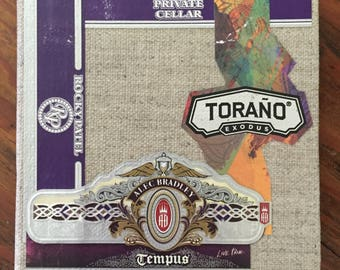 2017 Cigar Band Collage Coaster: Tempus Torano Exodus