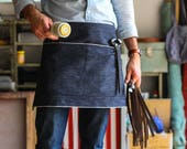 Custom Selvedge Denim Half Apron, Leather Pocket // Made in U.S.A. - For John M.