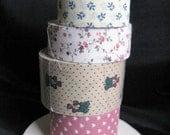 Fabric Ribbon Trim, Vintage Country Ribbon