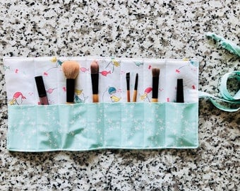 Brush Roll, MakeUp Brush Roll, Travel Roll, Supply Roll, Organizer, Art Supply Roll
