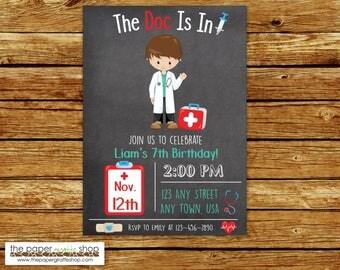 Doctor Invitation | Doctor Birthday Invitation | Kids Doctor Invitation | Kids Doctor Birthday Party | Doctor Party | Kids Doctor Party