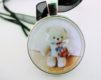 Teddy Bear Pendant,Teddy Necklace,Teddy Jewelery,Bear charm,Vintage Teddy bear,Gift for her,Cute necklace,Tween jewelry,vintage style