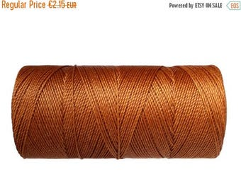 ON SALE Waxed Polyester Cord, 15 meters/16 yards Linhasita, Macrame Cord, Jewelry String, Cord for Jewelry - Caramel