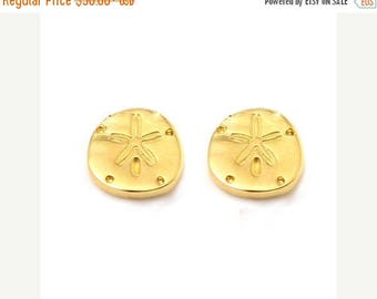 ON SALE SAND Dollar Petite Stud Earrings