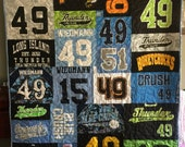 Custom Puzzle T Shirt Quilt for Amy W - Final Payment