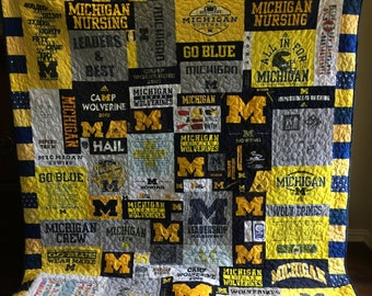 Custom Puzzle T Shirt Quilt - DEPOSIT ONLY