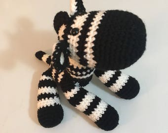 Zebra, zebra Lovie, crochet zebra, zebra baby gift, amigurumi zebra, stuffed zebra, zebra nursery, baby zebra, zebra lovey, zebra baby toy