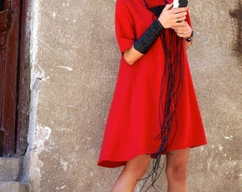 SALE New Collection Sexy Little Red Dress / Red Dress / Extravagant Loose  Dress / Party Dress / Daywear Dress by AAKASHA A03220
