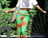 Jackie - African Ankara Wax Print Straight Leg Pencil Pants sale
