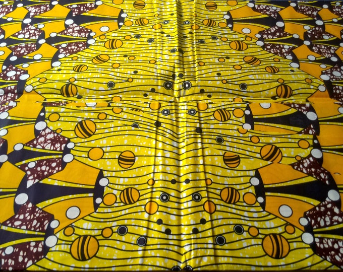 1 YARD African Print  Fabrics For Craft Making Dresses Shirts Ties /Sewing Fabric /Kitenge Pagnes Chitenge/ Suitable For Men and Women