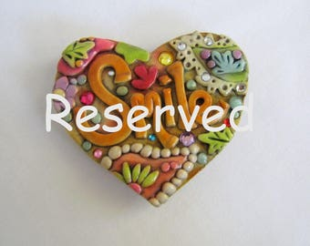 Reserved for R.S. Jeweled Rustic Paisley Smile and Joy Magnets