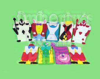 9 Alice in Wonderland Foam Party Bags