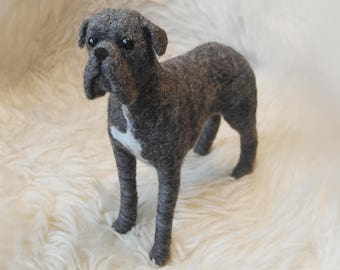 Cane Corso, Custom Made Dog, Needle Felted Animal, Commission Dog Portrait, Cane Corso or any other breed - made to order