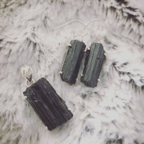 Black Tourmaline Jewelry Set
