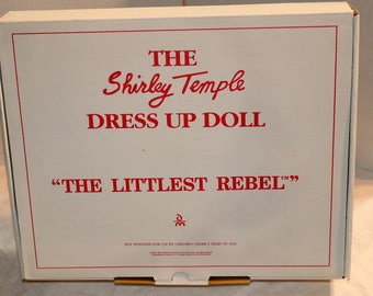 "1994 Danbury Mint Dress Up Doll - Shirley Temple Doll Outfit - ""Littlest Rebel"" - Mint in Original Packaging and Box"