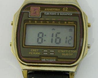 USSR Russian Electronic Watch Kamerton 62 #267