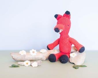 Fox Stuffed Animal - Crochet Fox Toy - Amigurumi Fox - Baby Gift