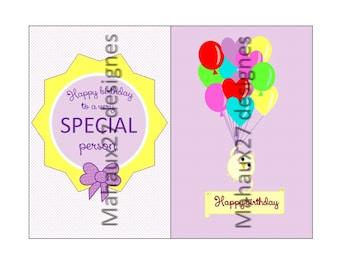 Happy Birthday digital colection- scrapbook- life cards