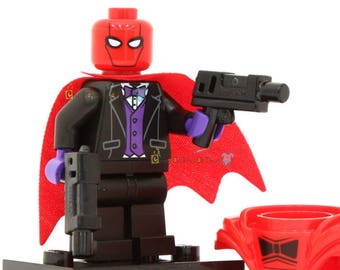 Red Hood Lego Batman Movie Minifigure Custom Lego Toy & Collectible, Bricks Building Block Toy Set, DC Comics Villains